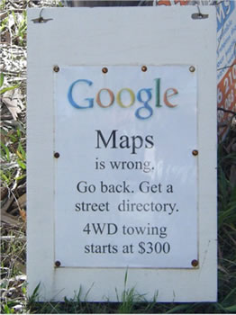 Google Maps in Australien